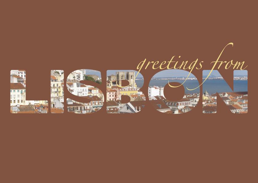 Vakantiekaarten - Greetings from Lisbon