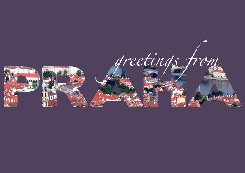 Vakantiekaarten - Greetings from Praha