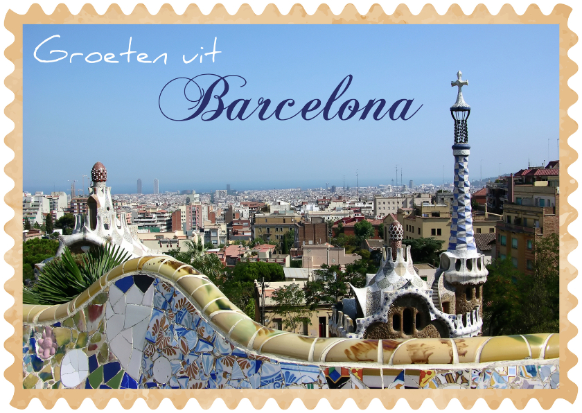 Vakantiekaarten - Groeten uit Barcelona 01
