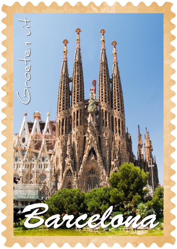 Vakantiekaarten - Groeten uit Barcelona Sagrada Familia