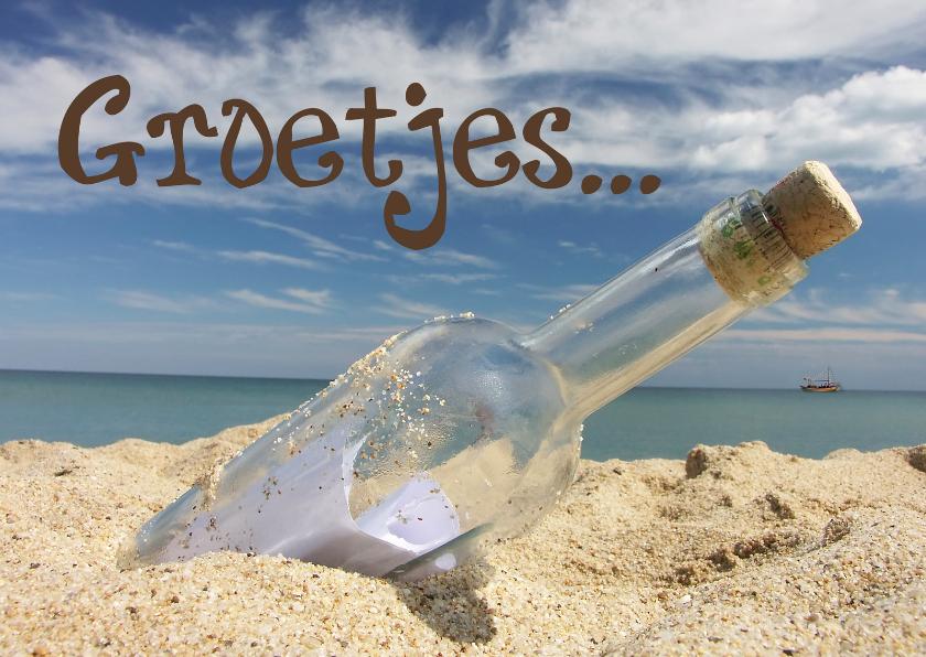 Vakantiekaarten - Groetjes strand