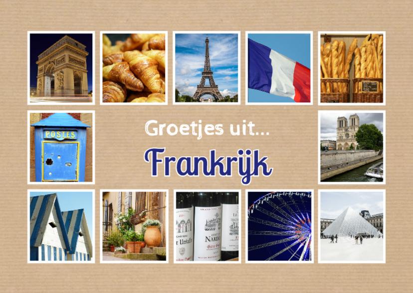 Vakantiekaarten - Groetjes uit Frankrijk - DH