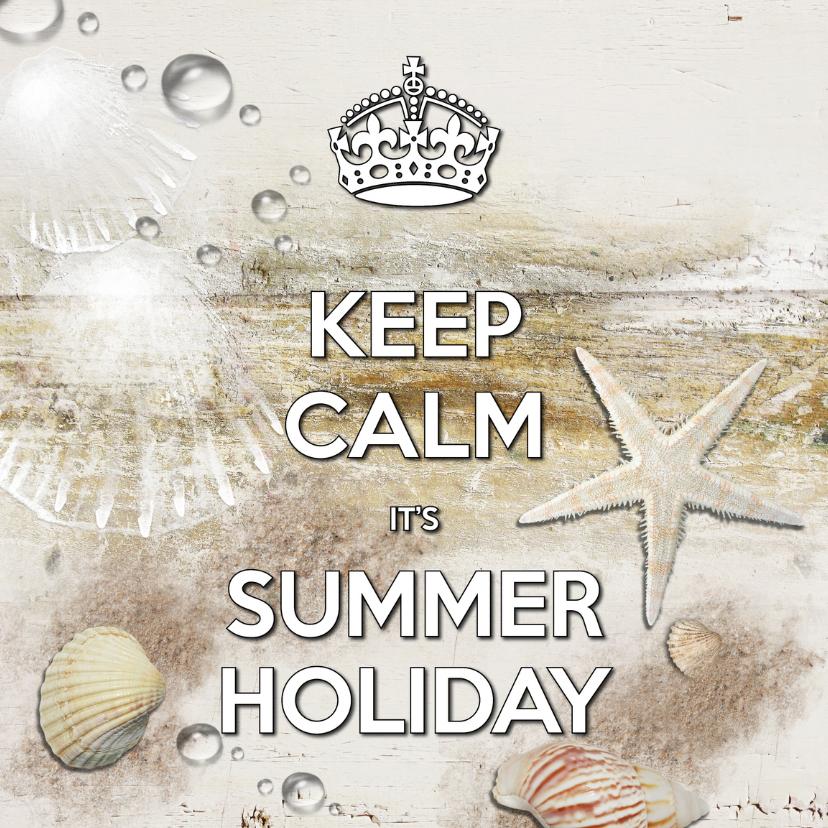 Vakantiekaarten - Keep Calm Summer Holiday beach - SG