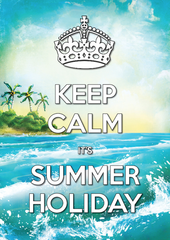 Vakantiekaarten - Keep Calm Summer Holiday Palm - SG