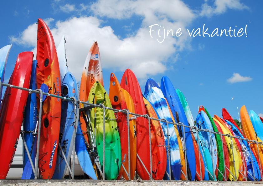 Vakantiekaarten - Kleurrijke Surfplanken