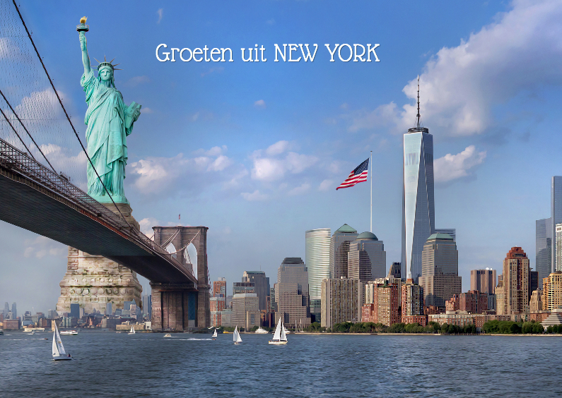 Vakantiekaarten - NEW YORK met een knipoog