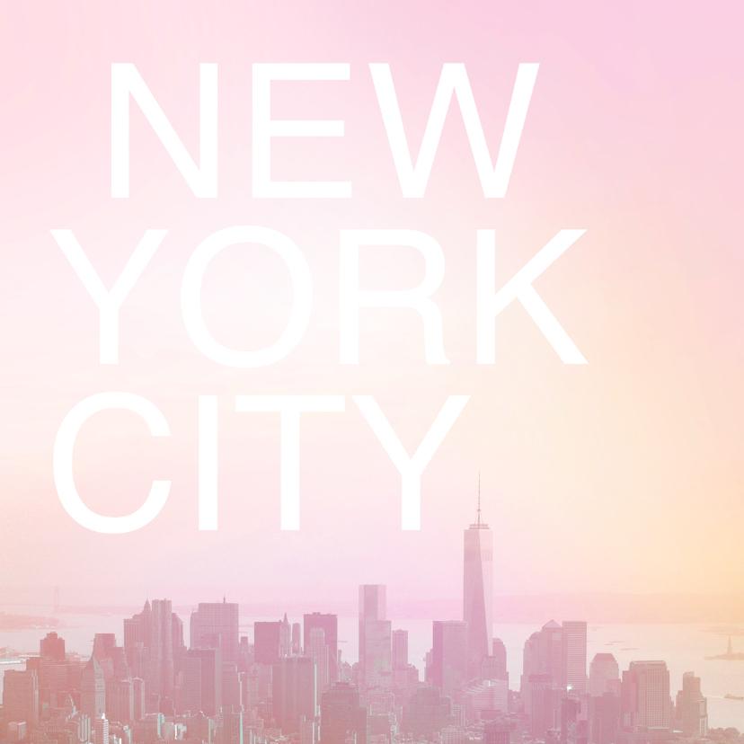 Vakantiekaarten - New York zomer skyline vakantie