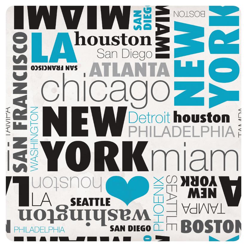 Vakantiekaarten - USA new york rondreis kaartje