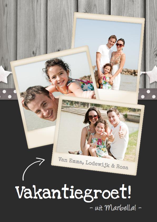 Vakantiekaarten - Vakantie fotocollage polaroid