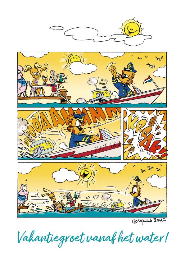Vakantiekaarten - Vakantie groetjes vanaf het water strip - A
