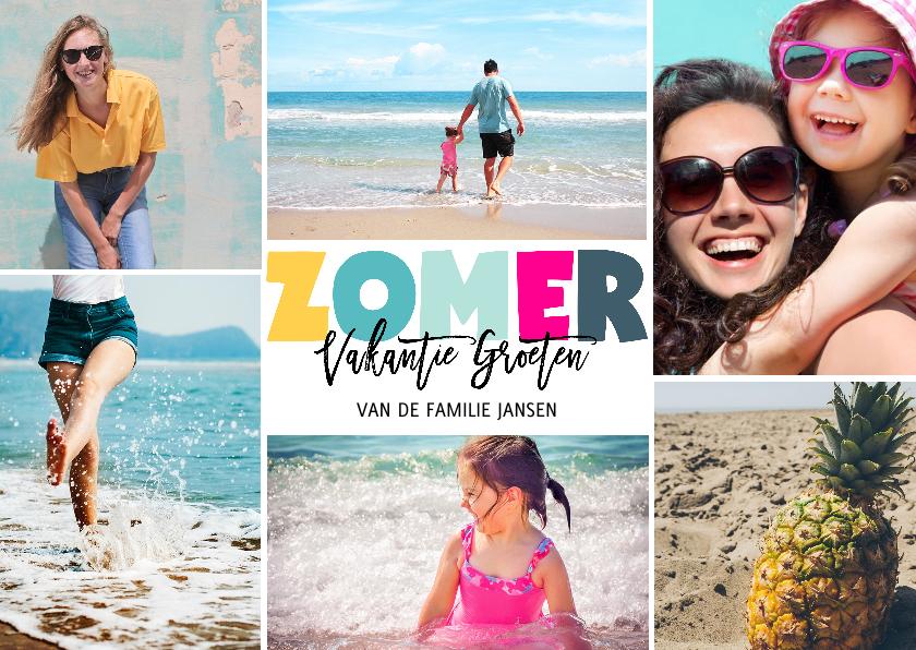 Vakantiekaarten - Vakantie kaart zomer letters