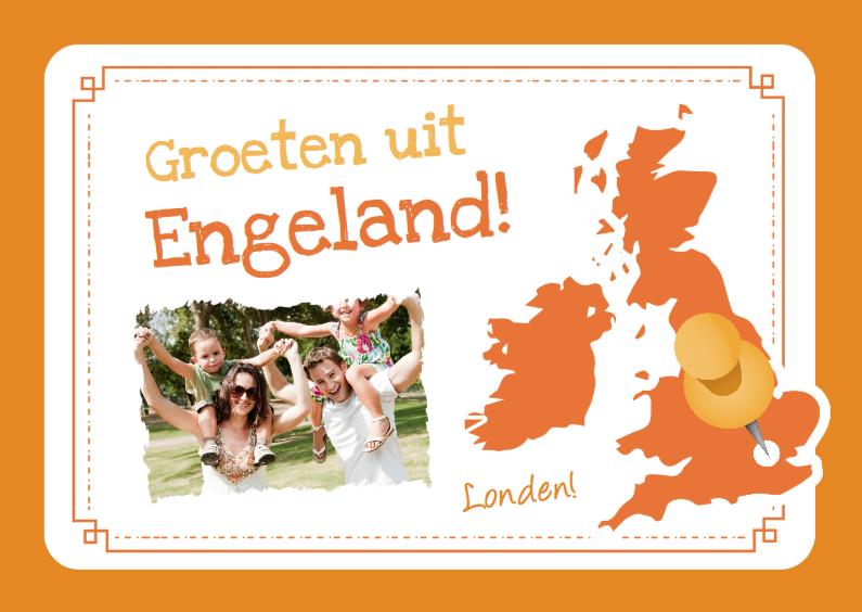 Vakantiekaarten - Vakantie Landkaart UK