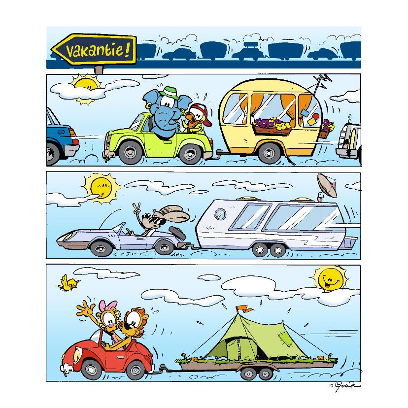 Vakantiekaarten - Vakantie Loeki strip autoreis - A