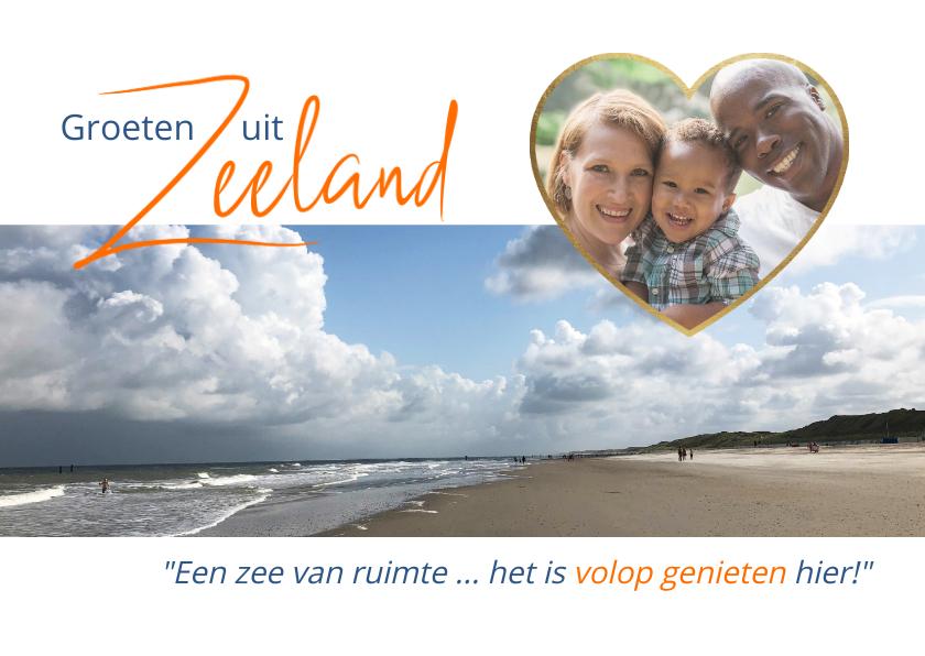 Vakantiekaarten - Vakantie met een zee van ruimte in Zeeland