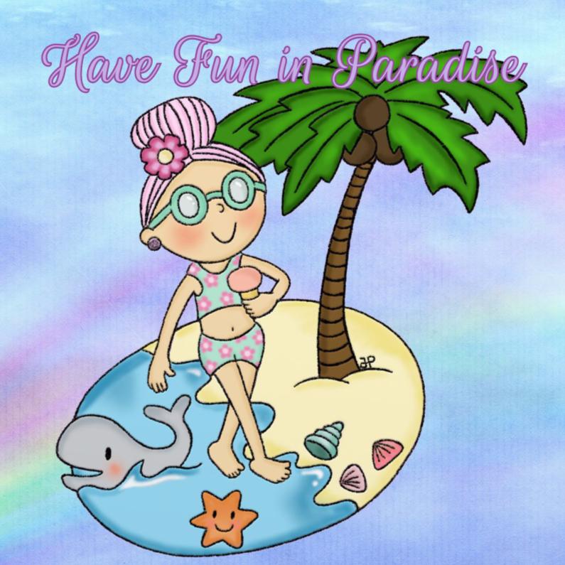 Vakantiekaarten - Vakantie Pastel Paradijs - TbJ