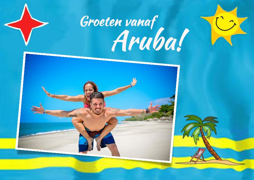 Vakantiekaarten - Vakantie - Vlag Aruba