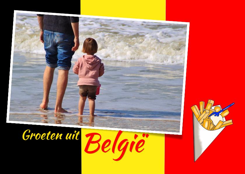Vakantiekaarten - Vakantie - Vlag België