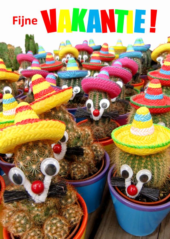 Vakantiekaarten - Vakantie vrolijke cactussen