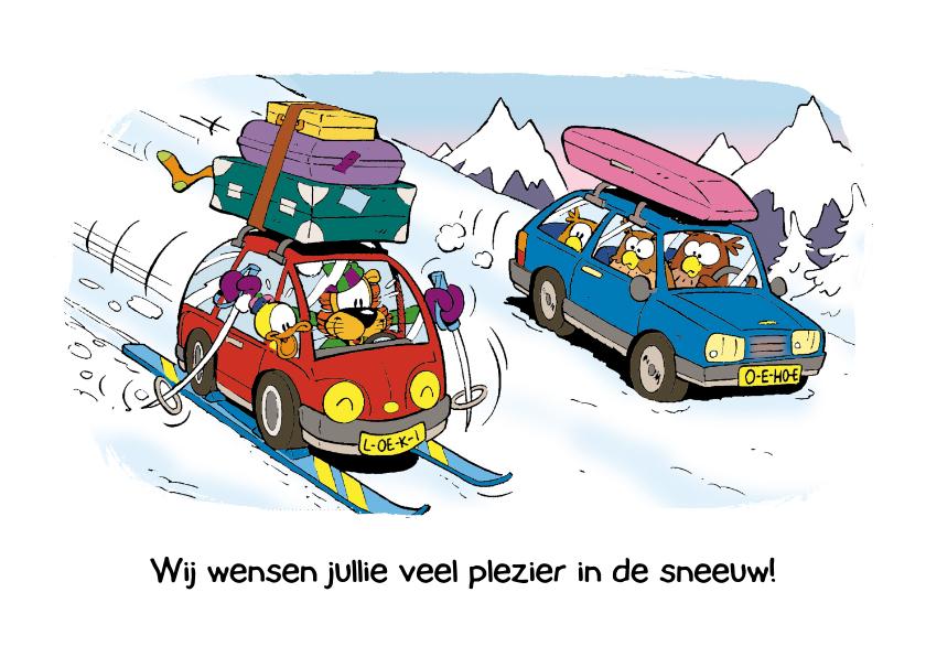 Vakantiekaarten - Vakantie wintersport met auto