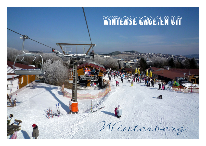 Vakantiekaarten - Vakantie Wintersport ski