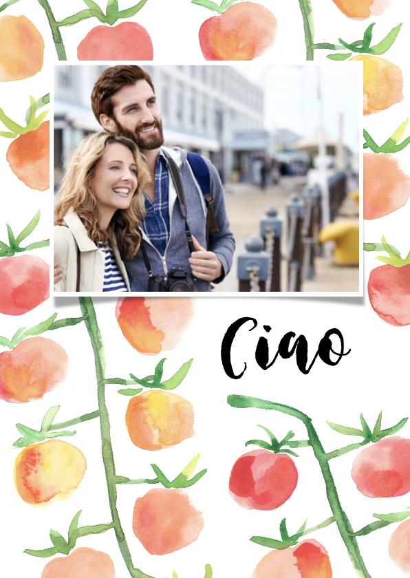 Vakantiekaarten - Vakantiegroet Italië met tomaatjes