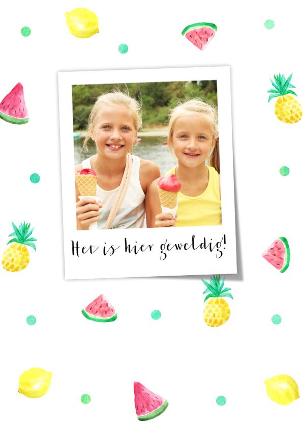 Vakantiekaarten - Vakantiegroet summer fruit