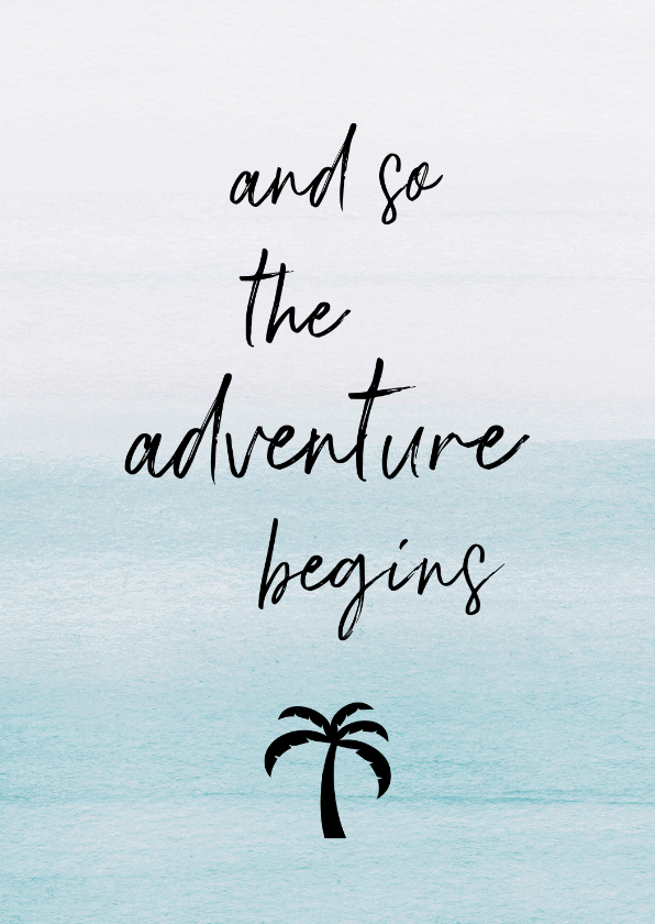 Vakantiekaarten - Vakantiekaart adventure palm