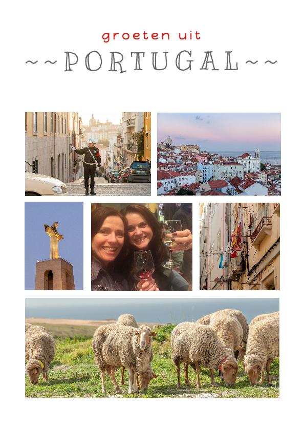 Vakantiekaarten - Vakantiekaart collage Portugal