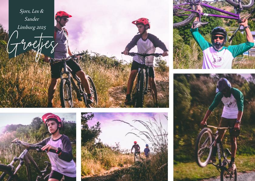 Vakantiekaarten - Vakantiekaart fietsvakantie eigen land