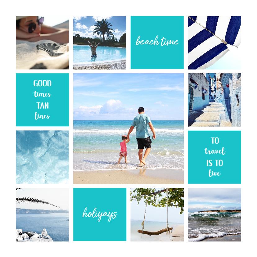 Vakantiekaarten - Vakantiekaart fotocollage 'Beach Time'