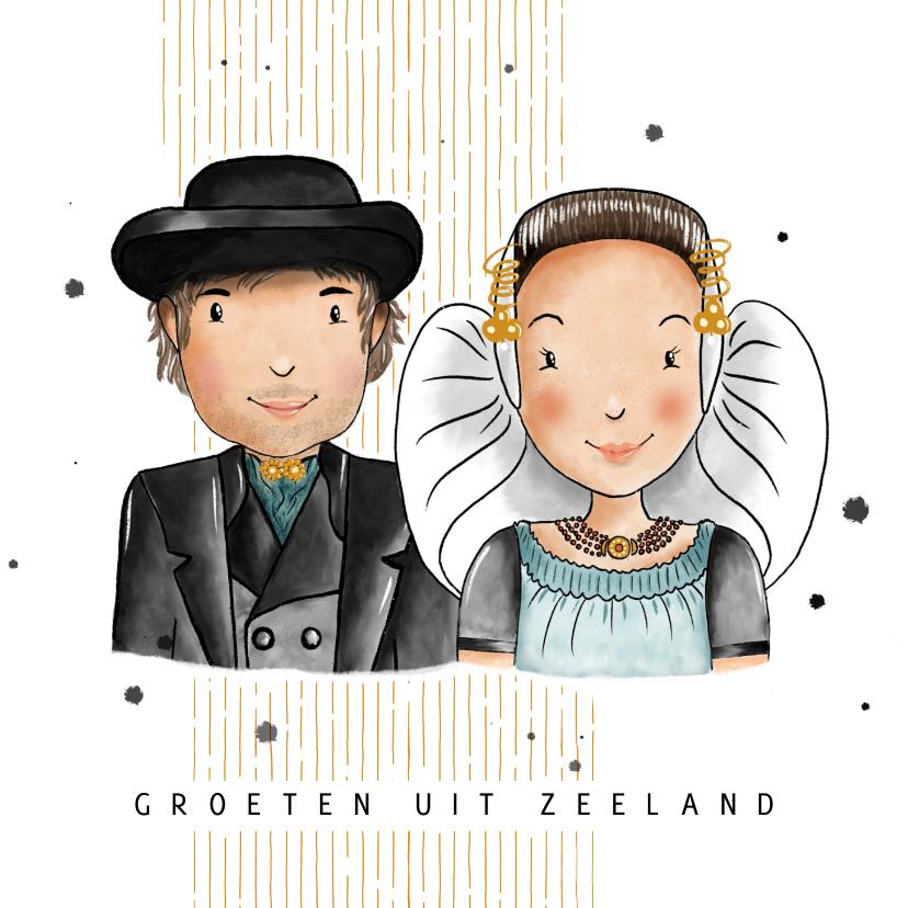 Vakantiekaarten - Vakantiekaart groeten uit Zeeland