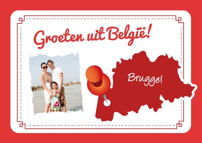 Vakantiekaarten - Vakantiekaart Landkaart België