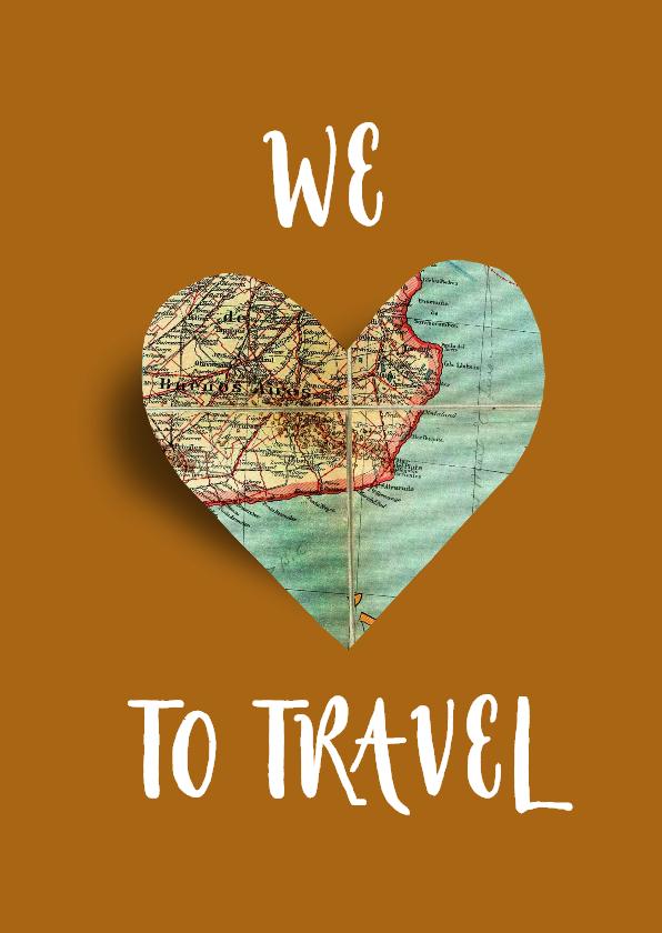 Vakantiekaarten - Vakantiekaart Love to travel - SG