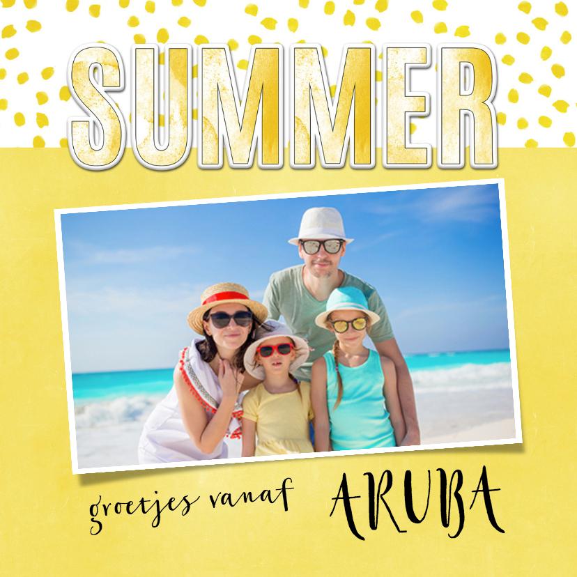 Vakantiekaarten - Vakantiekaart Summer geel - SG