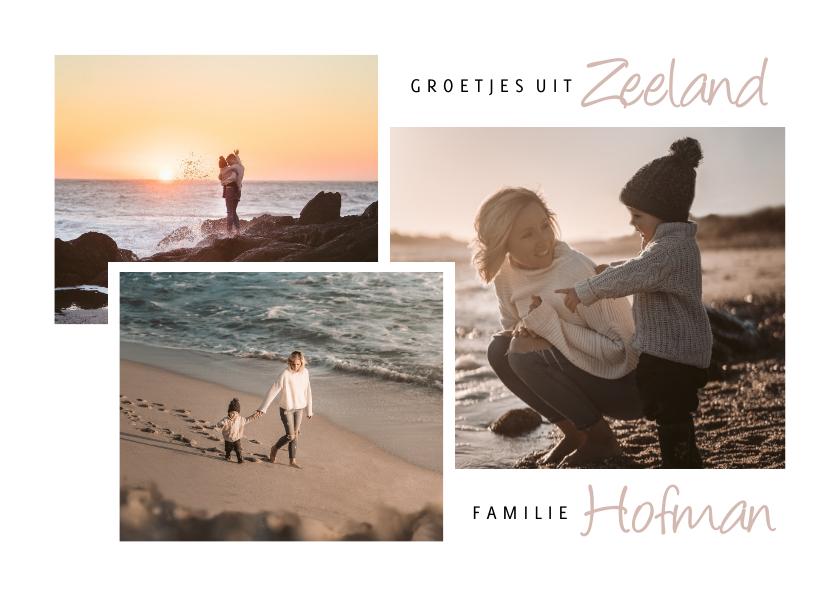 Vakantiekaarten - Vakantiekaart zeeland fotocollage