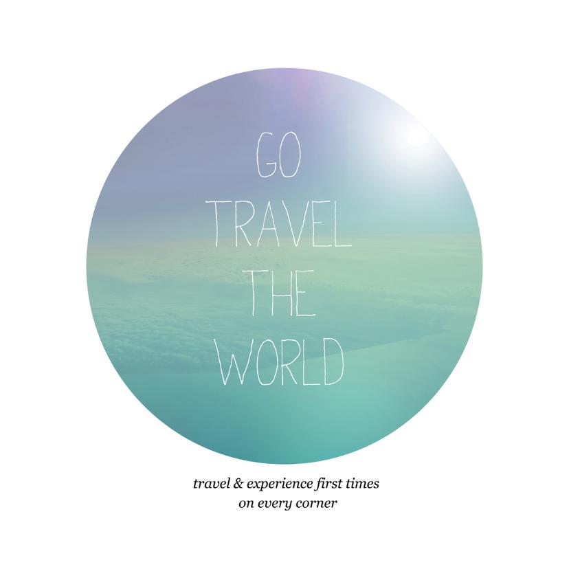 Vakantiekaarten - Wereldreis vakantie kaart engels quote