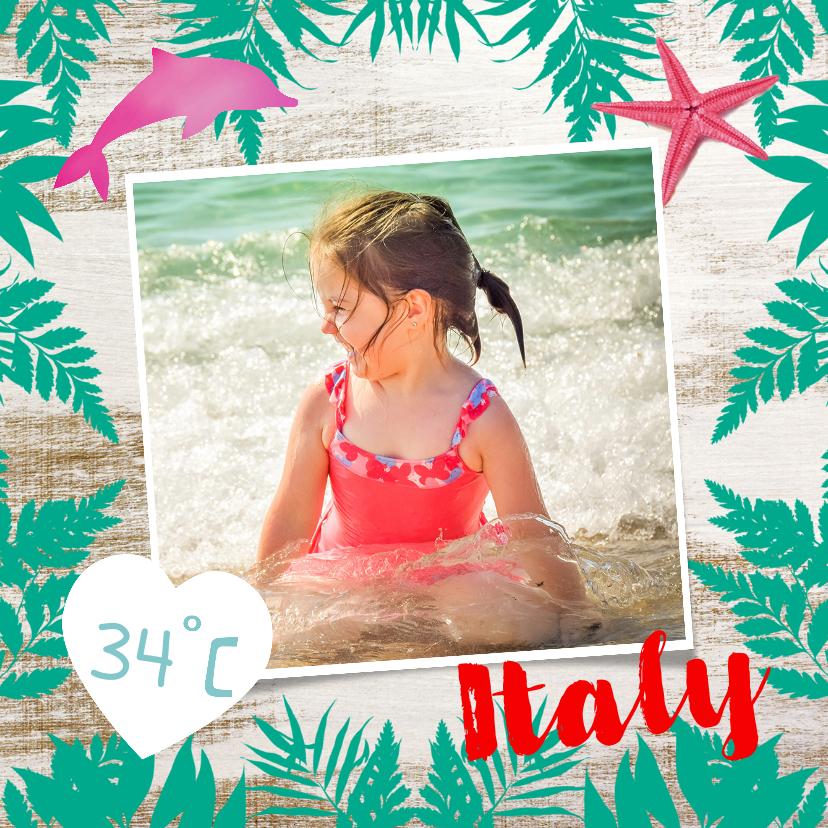 Vakantiekaarten - Zonnige vakantiegroeten voor een strandvakantie