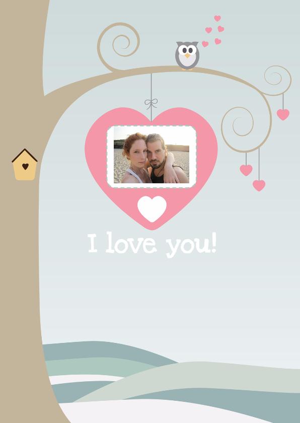 Valentijnskaarten - Boom vol liefde