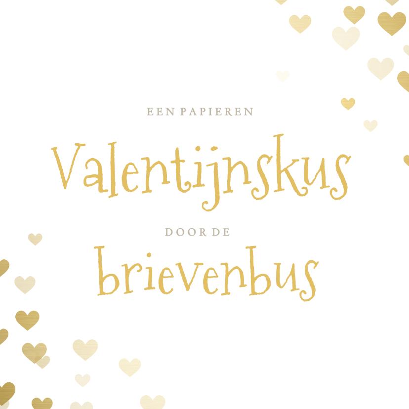 Valentijnskaarten - Corona Valentijnskaart - papieren kus door de brievenbus