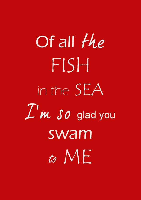 Valentijnskaarten - Fish in the sea