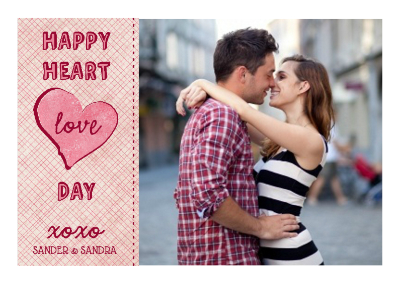Valentijnskaarten - Happy Heart Day Valentijn