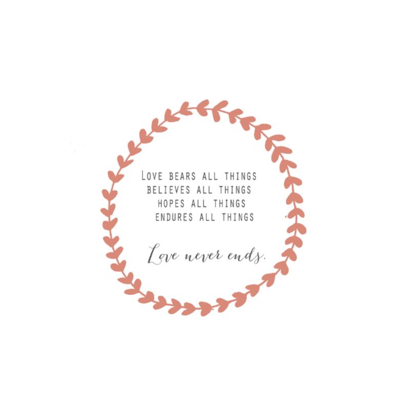 Valentijnskaarten - Kaart love never ends