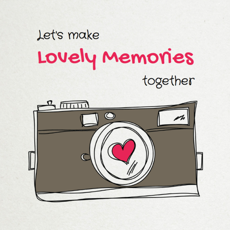 Valentijnskaarten - Let's make Lovely Memories - SG