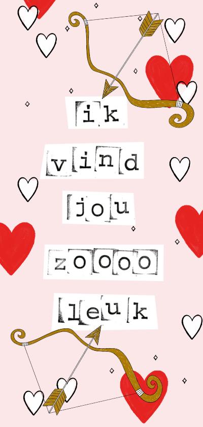 Valentijnskaarten - Leuke valentijnskaart met quote over liefde met illustraties