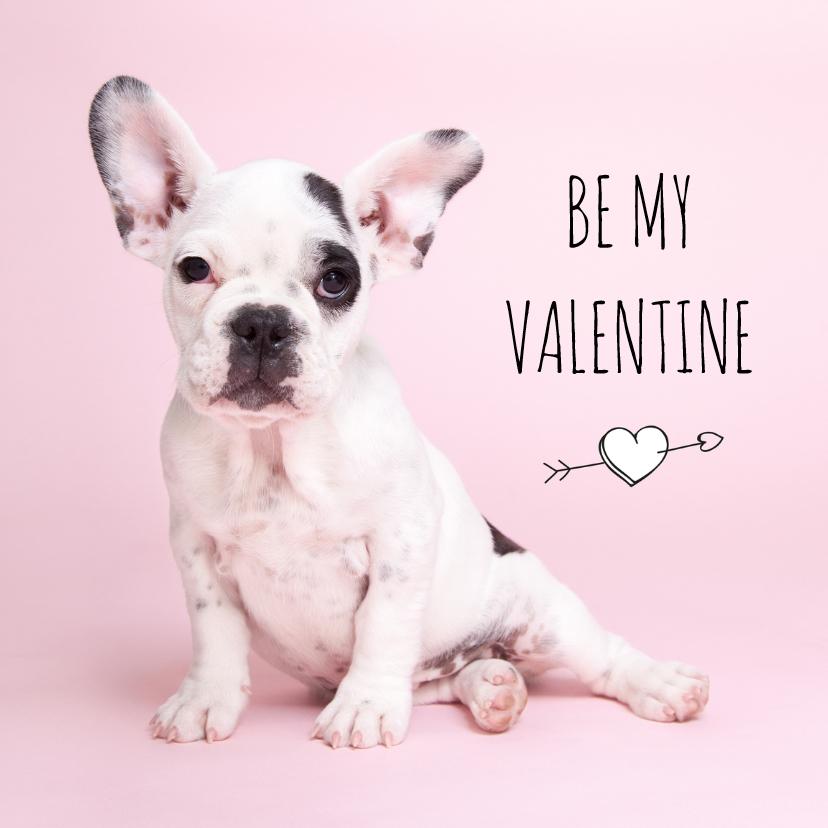 Valentijnskaarten - Liefde - Be my valentine - Franse Bulldog