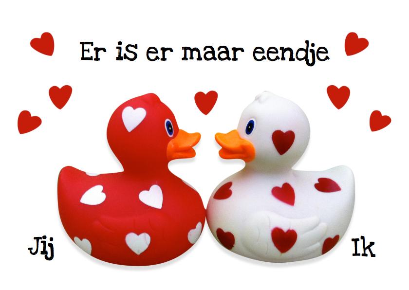 Valentijnskaarten - Liefde Valentijn Eendje voor mij