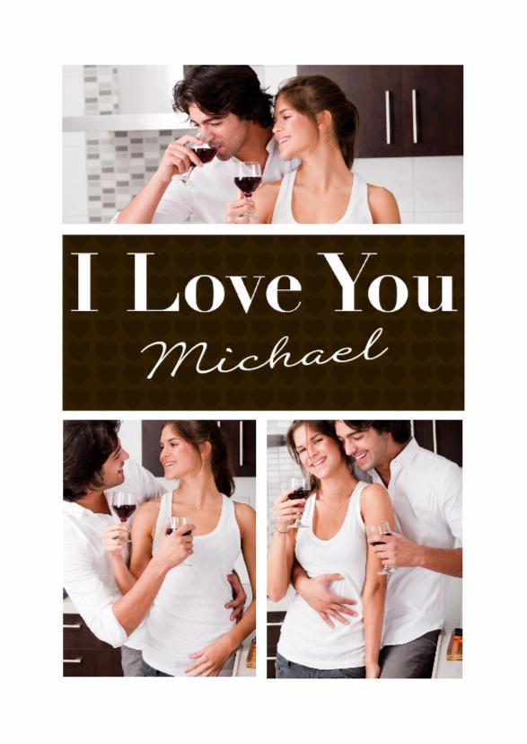 Valentijnskaarten - Liefdeskaart Chocolate - BK