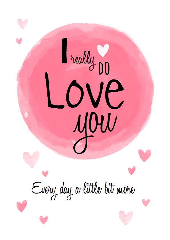 Valentijnskaarten - Liefdeskaart ... echte liefde