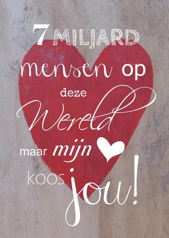Valentijnskaarten - Mijn hart koos jou