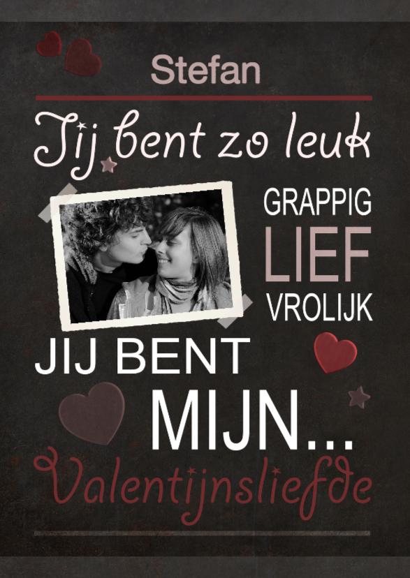 Valentijnskaarten - Mijn Valentijnsliefde krijt - BK